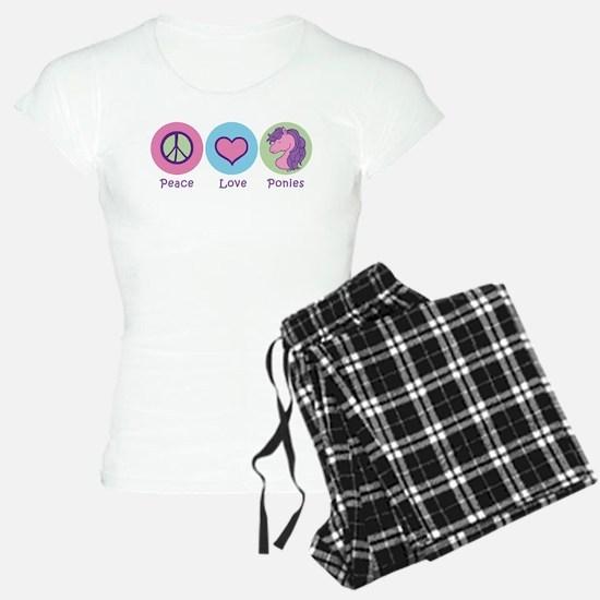 Peace Love Ponies Pajamas