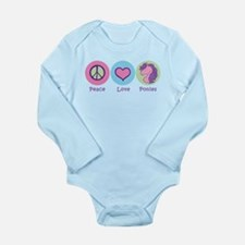 Peace Love Ponies Long Sleeve Infant Bodysuit