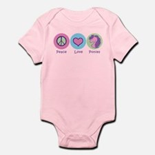 Peace Love Ponies Infant Bodysuit