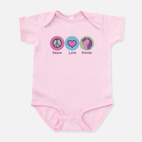Peace Love Ponies Infant Bodysuit
