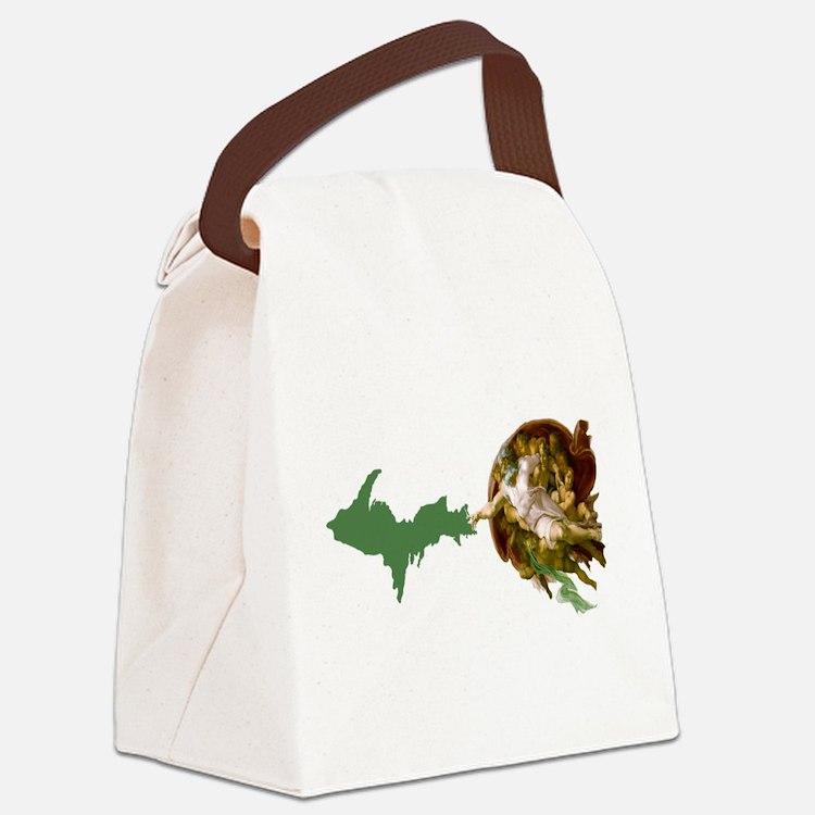 God Creates The U.P. Canvas Lunch Bag