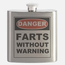 Danger Farts Without Warning Flask