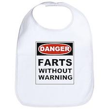 Danger Farts Without Warning Bib