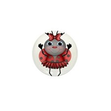 Dancing Ladybug Mini Button (10 pack)