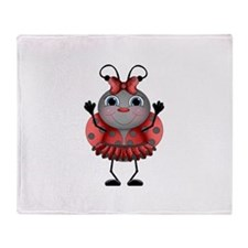 Dancing Ladybug Throw Blanket