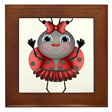 Dancing Ladybug Framed Tile