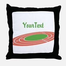 Customize Track Throw Pillow