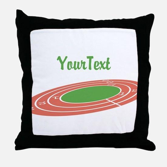 Customize Track Throw Pillow