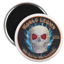 """Legion of Evil Bankers 2.25"""" Magnet (10 pack)"""