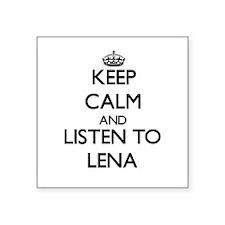Keep Calm and listen to Lena Sticker
