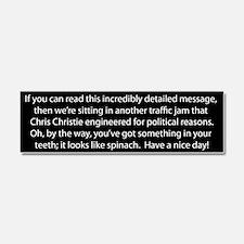 Chris Christies Traffic Jam Car Magnet 10 x 3