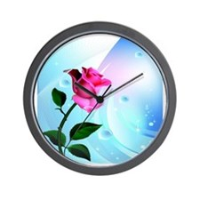 Rose Bliss Field Wall Clock