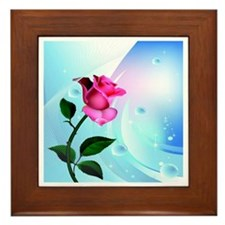 Rose Bliss Field Framed Tile