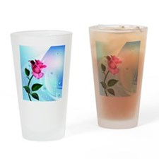 Rose Bliss Field Drinking Glass