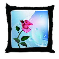 Rose Bliss Field Throw Pillow