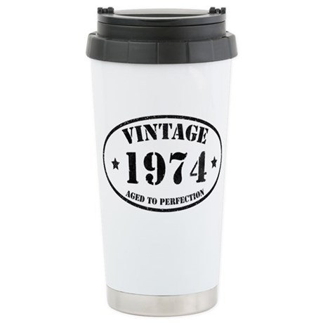 Vintage Aged to Perfect Stainless Steel Travel Mug