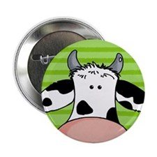 close up cow Button