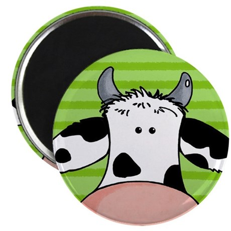 "close up cow 2.25"" Magnet (10 pack)"