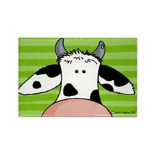 close up cow Rectangle Magnet