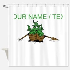 Custom Dragon On Boat Shower Curtain