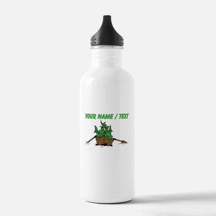 Custom Dragon On Boat Water Bottle
