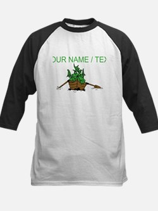 Custom Dragon On Boat Baseball Jersey
