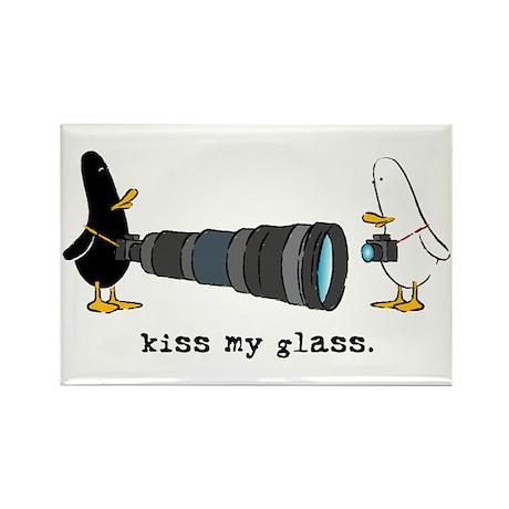 WTD: Kiss My Glass Rectangle Magnet
