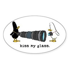 WTD: Kiss My Glass Oval Decal