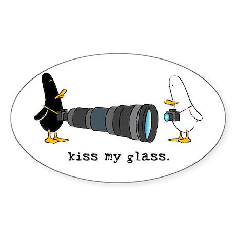 WTD: Kiss My Glass Oval Sticker