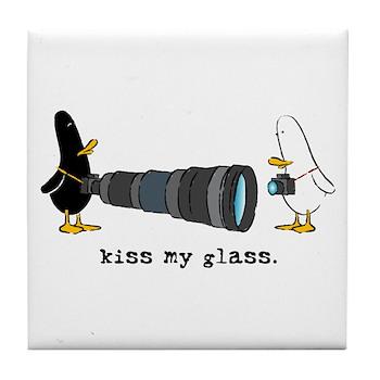 WTD: Kiss My Glass Tile Coaster