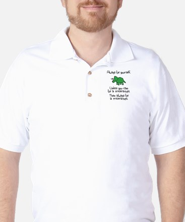 Always Be A Triceratops Golf Shirt