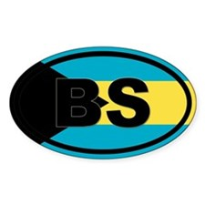 Bahamas BS flag Decal