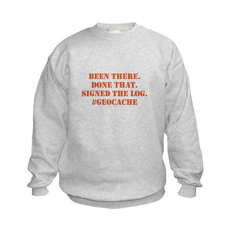 Signed the Log geocache Sweatshirt