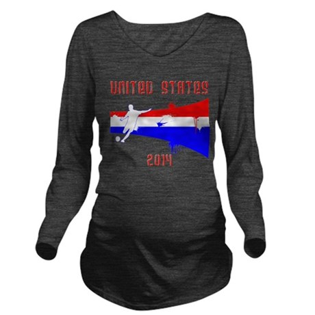 USA World Cup 2014 Long Sleeve Maternity T-Shirt