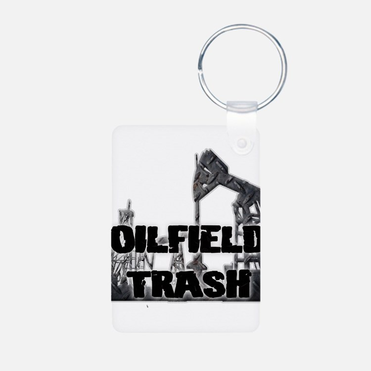 Oilfield Trash Diamond Plate Keychains