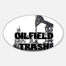 Oilfield Trash Diamond Plate Decal