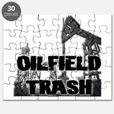 Oilfield Trash Diamond Plate Puzzle
