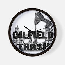 Oilfield Trash Diamond Plate Wall Clock