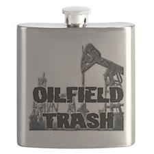 Oilfield Trash Diamond Plate Flask