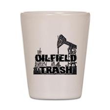 Oilfield Trash Diamond Plate Shot Glass