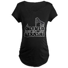 Oilfield Trash Diamond Plate Maternity T-Shirt
