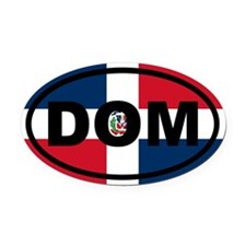 Dominican Republic DOM Oval Car Magnet