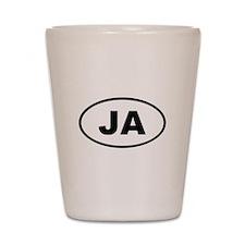 Jamaica JA Shot Glass