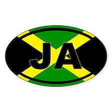 Jamaica Flag JA Decal