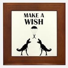 TRex Make a Wish Framed Tile