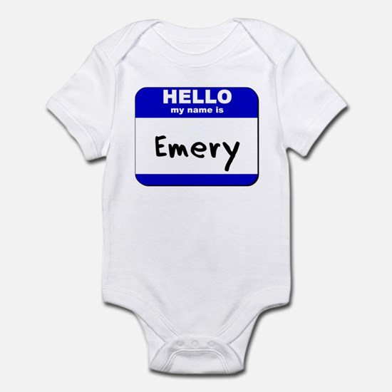 hello my name is emery  Infant Bodysuit
