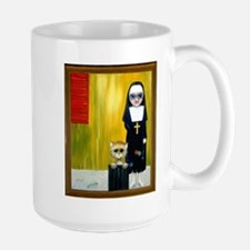 """The Crying Nun"" with sad kitty Mug"