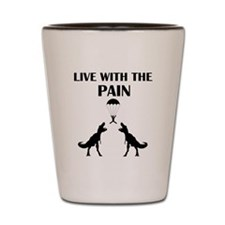 TRex Live With the Pain Shot Glass