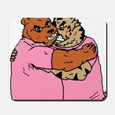 A bear and tiger of the good friend coup Mousepad