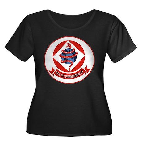 VFA 102 Women's Plus Size Scoop Neck Dark Tee
